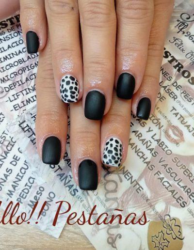 uñasvalencia-animalprint-uñasanimalprint-blacknails